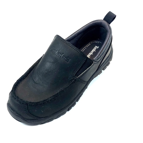 Timberland Other - Timberland Black Leather Boys SlipOns
